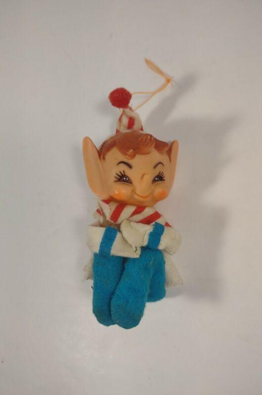 Vintage Christmas Elf Pixie Knee Hugger & Shelf Sitter - Small - Big Ears
