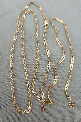 """14ct 14 KP Gold Chain Italy 26"""" long. Fully hallmarked  Scrap or repair  for sale  Shipping to South Africa"""