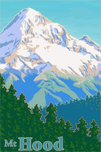 Mt. Hood Oregon United States of America Travel Ad Art Print Poster