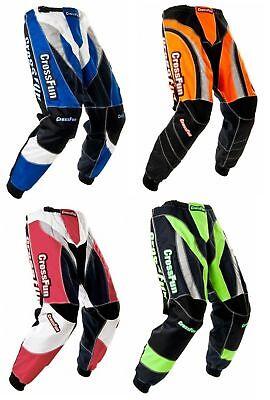 CrossFun Kinder Motocross Quad Enduro MX Hose Kids Gr. 116 bis 164