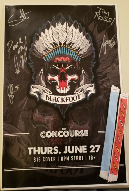 Band Poster Blackfoot Autographed