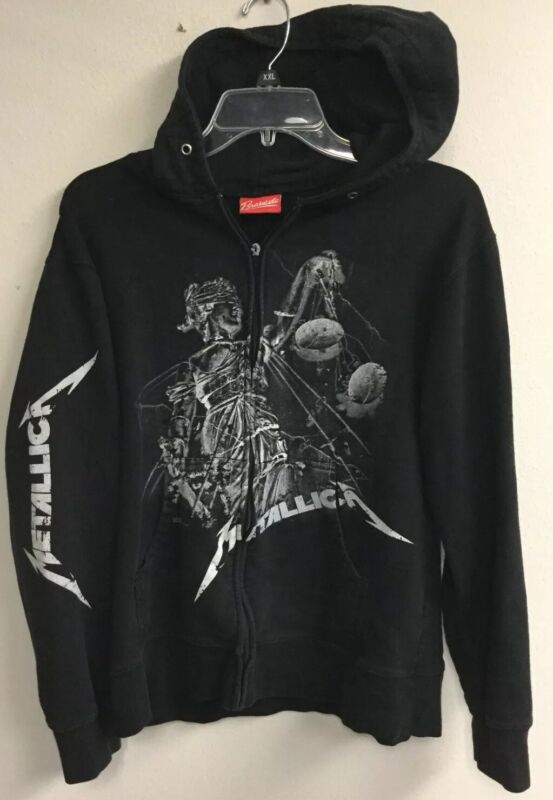 "Metallica ""And Justice For All"" Zip Up Hoodie Bravado Adult M Vintage Look!"