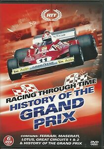 RACING THROUGH TIME HISTORY OF THE GRAND PRIX F1 - 6 DVD BOX SET  Formula 1 one
