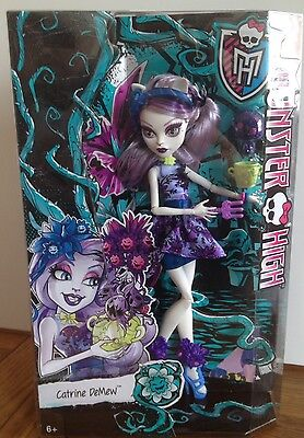 MONSTER HIGH CATRINE DE MEW DOLL GLOOM AND BLOOM RARE ORIGINAL BNIB