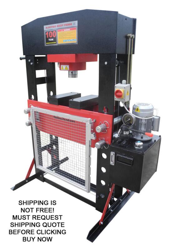 Redline RE100T-E Shop Press 100 Ton Automotive Hydraulic Electric Floor Metal