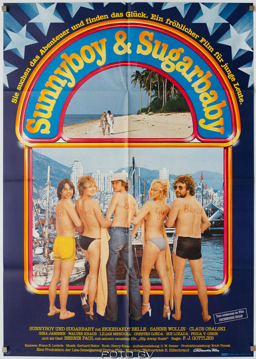 Original-Filmplakat Sunnyboy und Sugarbaby 1979 Bernie Paul Gina Janssen