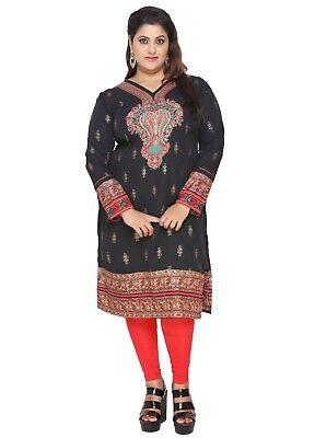 Uk Stock   Plus Size    Women Indian Kurti Tunic Kurta Top Shirt Dress Eplus108a