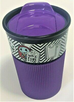 New Disney Nightmare Before Christmas Travel Tumbler Cup Purple 11 oz Hot / Cold