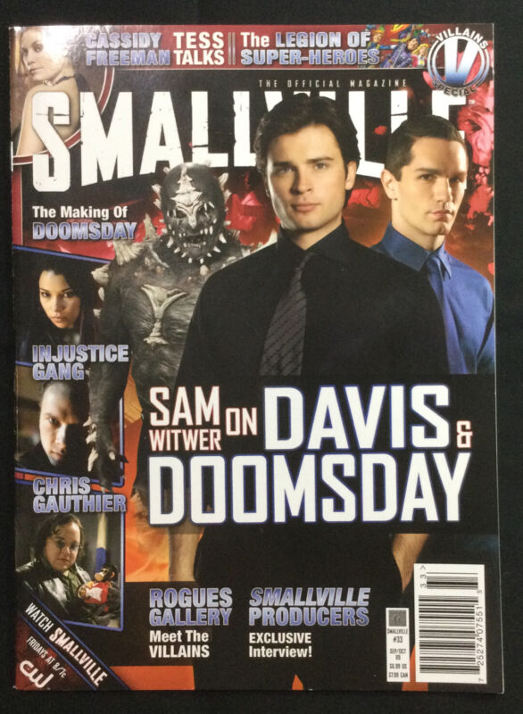Smallville Magazine #33 Sep/Oct 2009 Villains Special Tom Welling Superman
