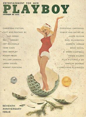 PLAYBOY Dec.1960 MARILYN MONROE! Xmas Playmates JANET PILGRIM~VARGAS~CAROL EDEN ()