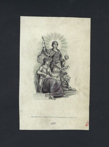 Sweden Vignette Proof Portrait of Two allegorical  Used on date 1894 PS737-739