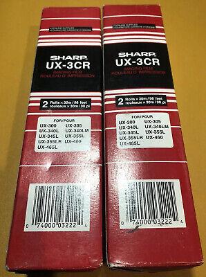 Sharp Ux-3cr Fax Machine Imaging Film 4 Rolls Two Per Box For Ux 300 305 460