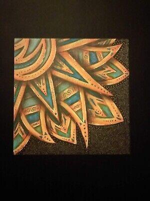 Tribal Sun--OOAK--Mixed Media