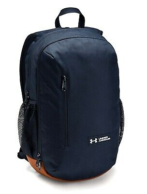 Under Armour UA ROLAND Storm™ 17L Solid Academy Navy Blue Backpack Book Bag