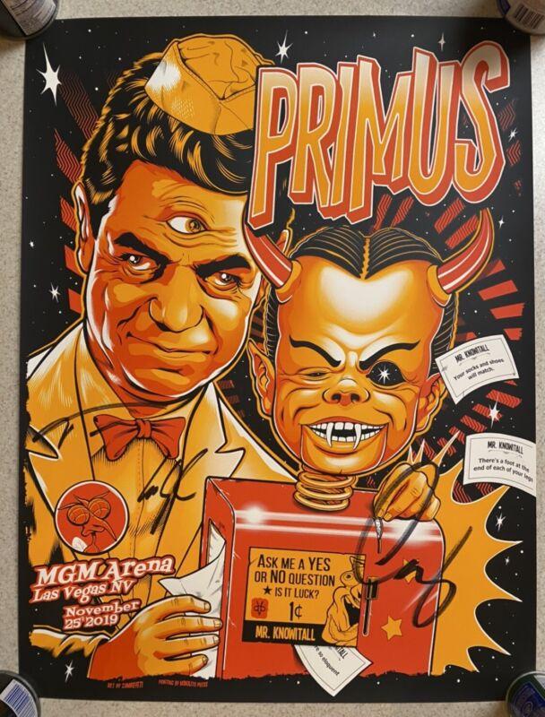 Primus Autographed Tour Poster