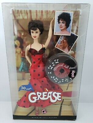 Barbie Grease Rizzo Doll Red Dress Movie Collector 30 Years Musical Stand NRFB
