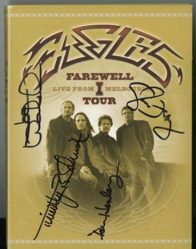 The EAGLES Hand signed Farewell Tour DVD Don Henley, Glenn Frey, Joe Walsh, Tim