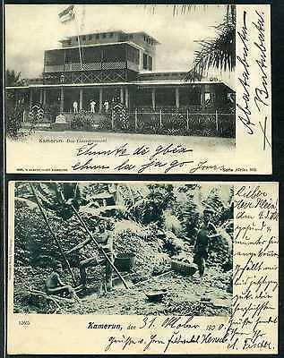 Kamerun Mi 2 + 3 je auf Karte Kamerun + Viktoria nach Klein-Popo/Togo 1899 +1900