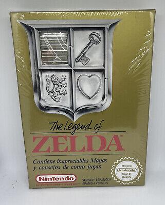 Legend of Zelda Brand New MINT Factory Sealed VGA WATA Rare PAL ESP NES Gem!