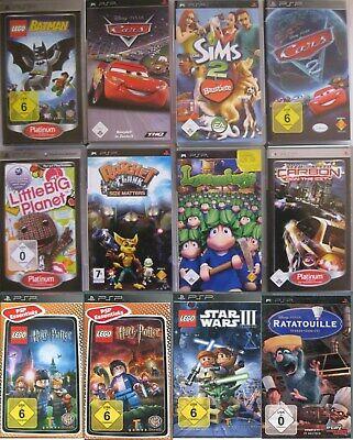 Sony PSP Kinder Spiele OVP Die Sims Shrek Disney Cars Lego Star Wars III Auswahl (Legos Star Wars Spiele)