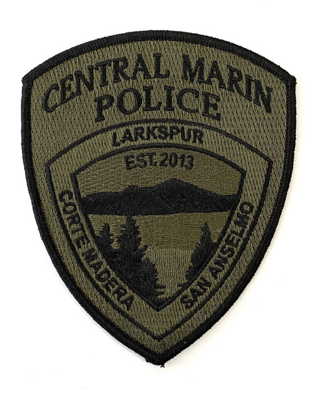 Central Marin Police Department Subdued OD Shoulder Patch California New