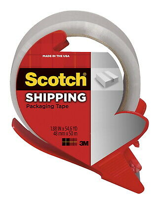 Scotch Shipping Packaging Tape With Dispenser 1.88 Inches X 54.6 Yards Clear