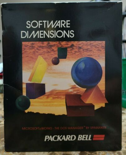 Software Dimensions Packard Bell Microsoft Works The Dos Manager By Spinnaker