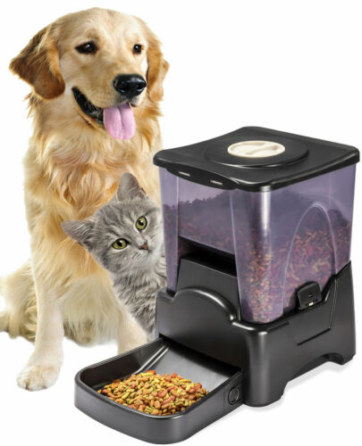 Automatic Pet Feeder Dog Cat Programmable Animal Food Bowl Auto Dispenser