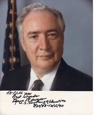 Lauro Cavazos Us Secretary Of Education Signed Autograph Photo