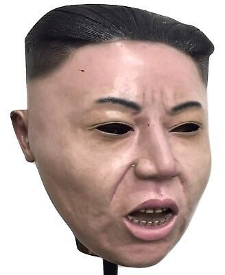 (HBGI) Serious ROCKET MAN Kim Jong Un Halloween Latex Mask Realistic Costume - Rocket Man Halloween Costume