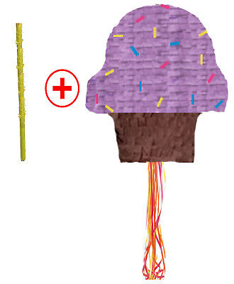 Ice Cream Pinata (ICE CREAM CONO PARTY GAMES PIÑATA PARTY PULL STRING OR HIT WITH OPTION OF STICK)
