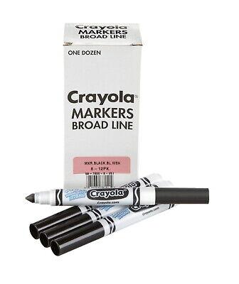 Crayola 12 Count Washable Bulk Markers, Black 58-7800-051