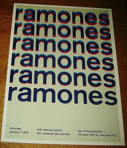 RAMONES ROCK CONCERT POSTER SWISS PUNK GRAPHIC POP ART PALLADIUM MIKE JOYCE