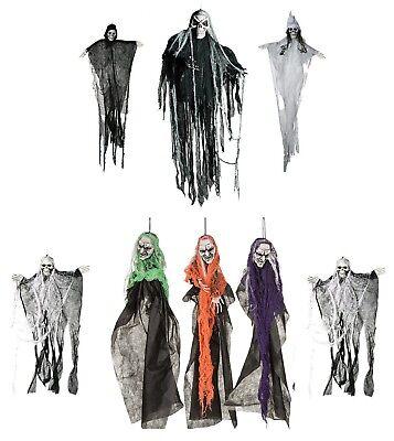Scary HALLOWEEN HANGING GHOUL Skeleton Figure 60cm Decoration Grim Reaper Prop A (Grim Reaper Prop)