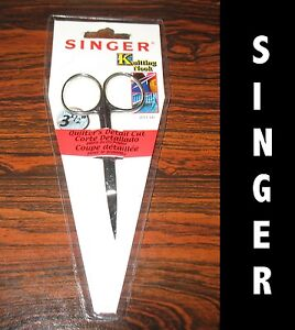 2-New-Singer-Quilter-s-detail-cut-scissors-3-1-2-inch-Stainless-steel-fine-point