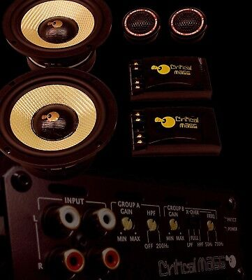 CRITICAL MASS CM654a 6.5'' COMPONENT SPEAKER BEST SOUND  USA TWEETERS