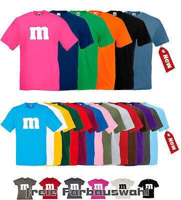 M&M T-Shirt Fans Karneval Fasching Darts Gruppenkostüm Shirt Damen Herren -