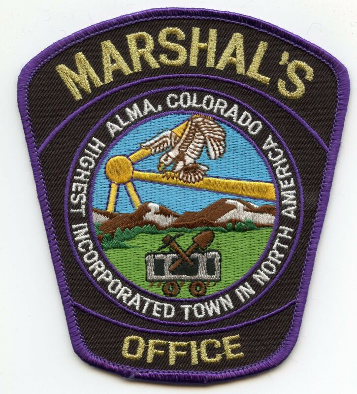 ALMA COLORADO CO Highest Incorporated Town In North America MARSHAL police PATCH