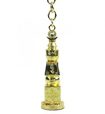Feng Shui Big Size Bejeweled 5 Element Pagoda Keychain