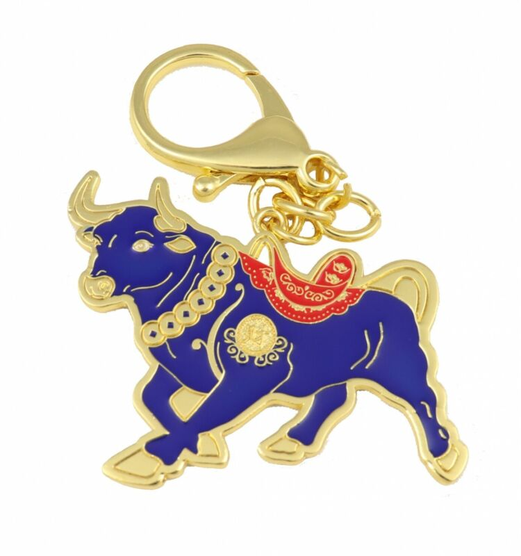 Feng Shui Asset Wealth Bull Keychain Amulet