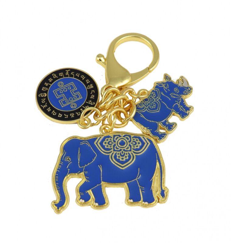 Feng Shui Anti Robbery Amulet 2021 with Blue Rhino Elephant