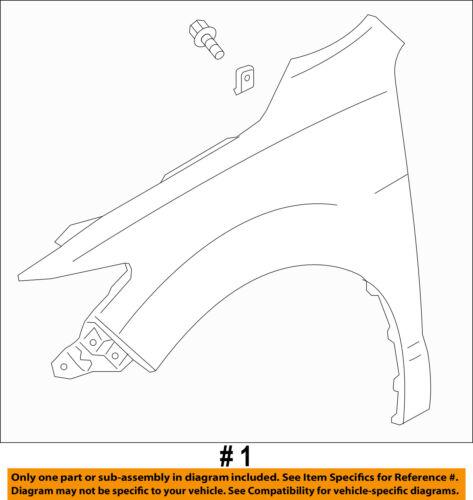 Acura HONDA OEM 2016 RDX-Front Fender Quarter Panel Right