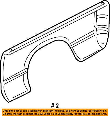 Dodge CHRYSLER OEM 02-08 Ram 1500 Rear Fender Quarter Panel-Bed Right 55276082AG