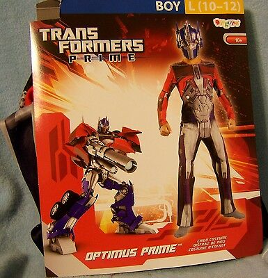 L 10-12 Transformers Prime Costume Disguise Child Kid Boy Halloween Play TOY NWT - Kids Transformers Costume