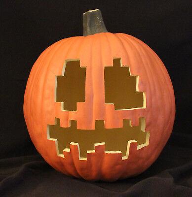 MINECRAFT Jack-O-Lantern • Hand-Carved Artificial Foam Pumpkin • 12