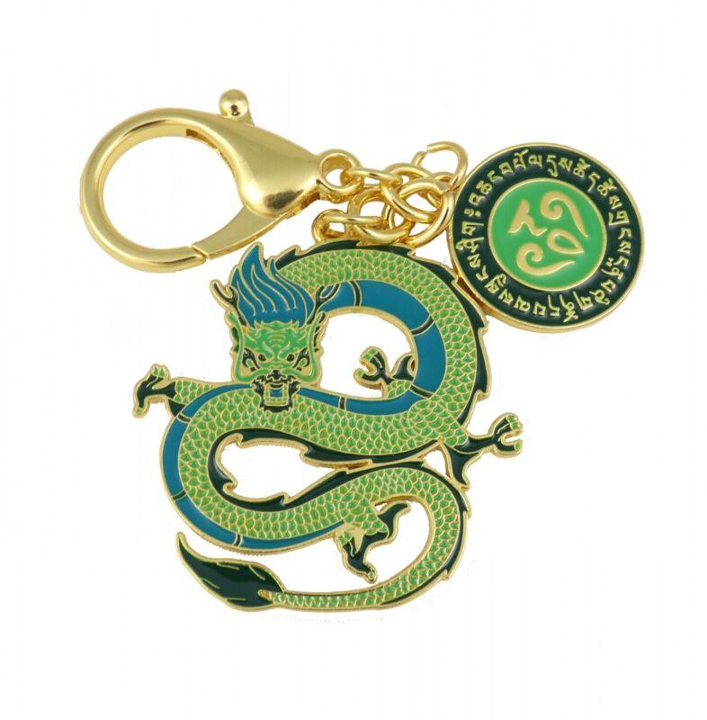 Feng Shui Green Dragon Lunar Mansion Talisman Keychain