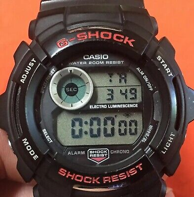 Rare AUTHENTIC Casio G-Shock G-2000 w/ Screw-on Back Cover.Near Mint., used for sale  Danville