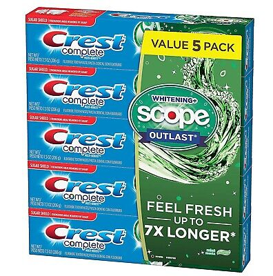 Crest Complete Whitening + Scope Toothpaste (7.3 oz., 5 pk.)