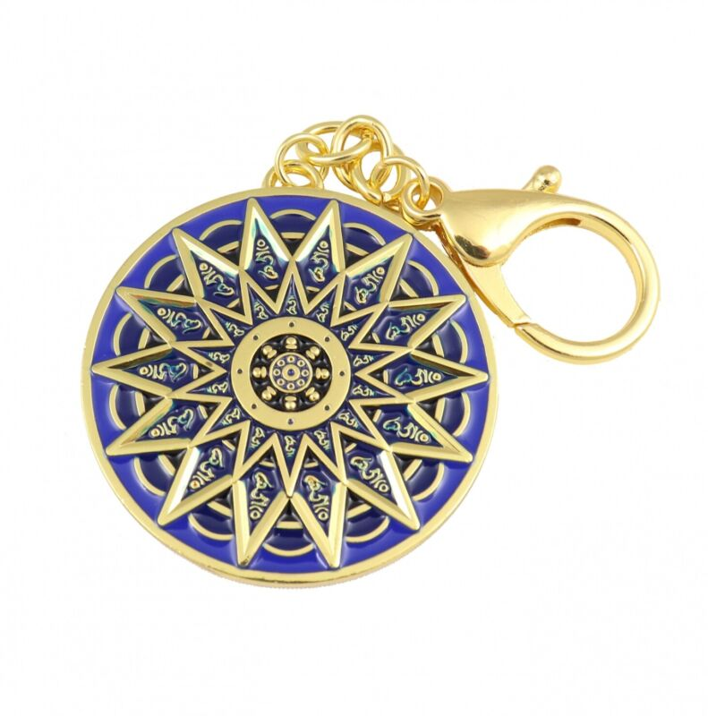 Feng Shui 28 Hums Protection Wheel Keychain