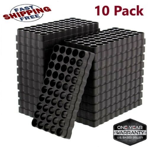 10-Pack 50 Round Small Ammo Tray Universal Reloading Loading Blocks Bullet Case